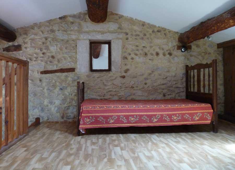 Gîte 6 personnes - Mezzanine avec lit double